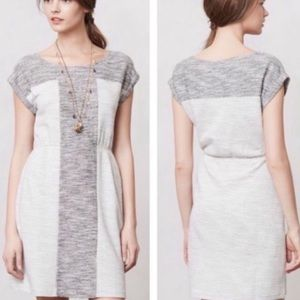 Anthro Edme & Esyllte Grey Cotton Pocket Dress